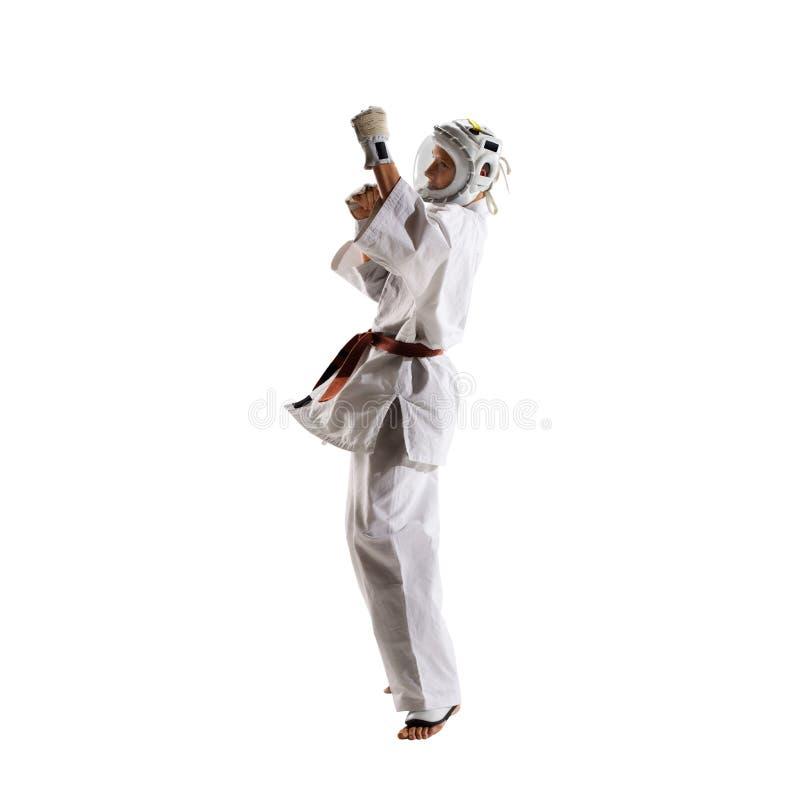 Бойцы Kudo изолированный бой стоковое изображение