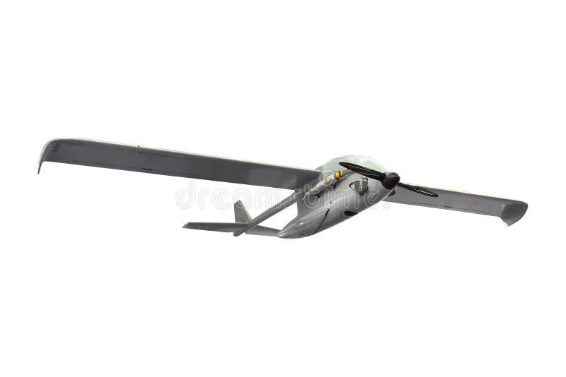 Бой военного удара оставлял без людей изолированного трутня шпиона рекогносцировки самолета UAV воздушного транспортного средства стоковые фото