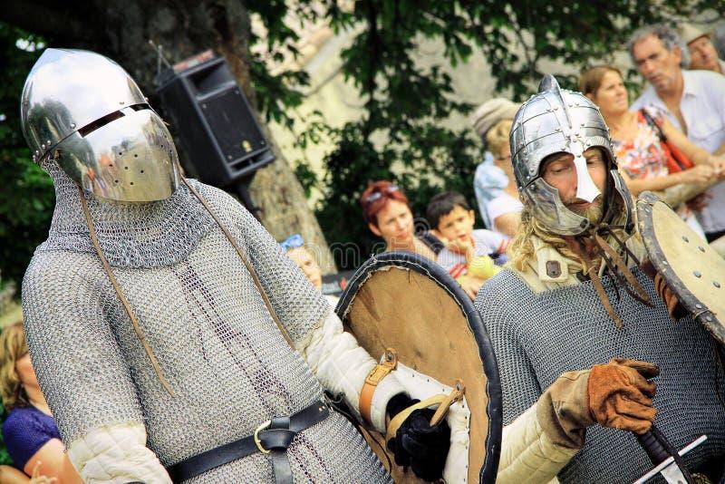 Бой рыцарей стоковые изображения
