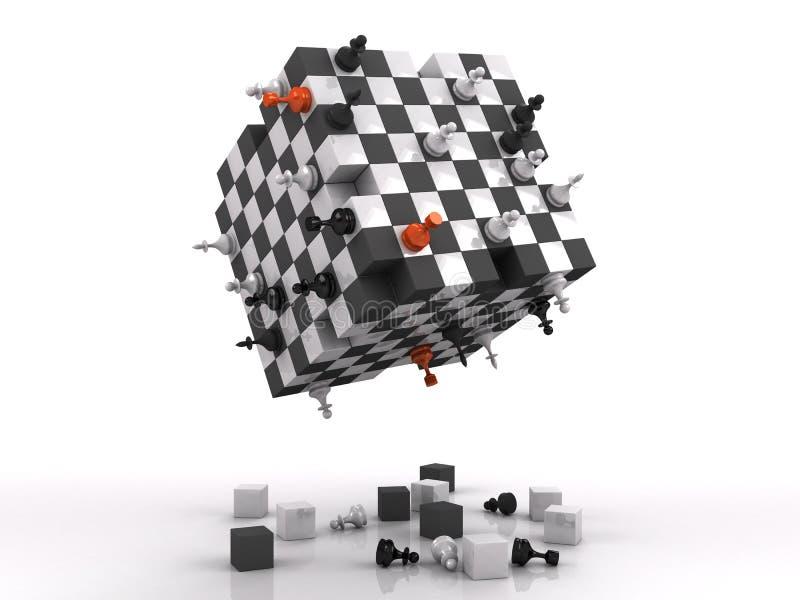 бой шахмат 3d бесплатная иллюстрация