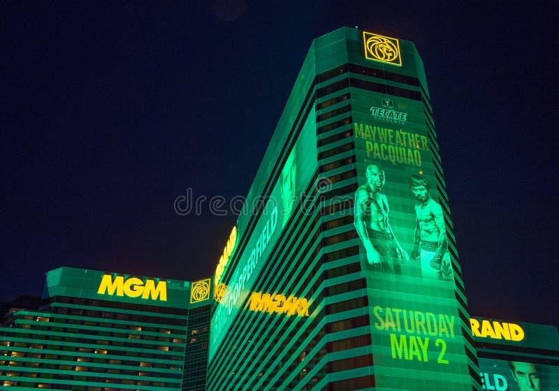 Бой Floyd Mayweather и Manny Pacquiao стоковые фотографии rf