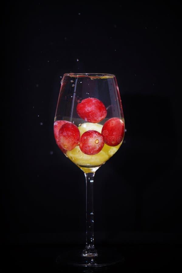 Бокал виноградин стоковое изображение