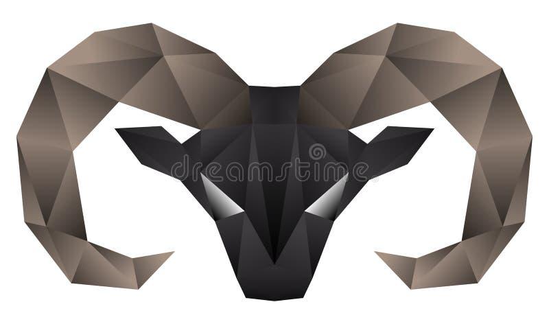 Боковой суппорт сделанный в изолированном стиле мозаики иллюстрация вектора