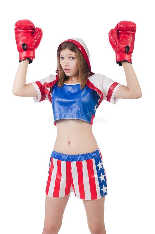 Боксер женщины стоковые изображения