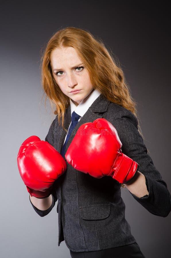 Боксер женщины стоковое изображение