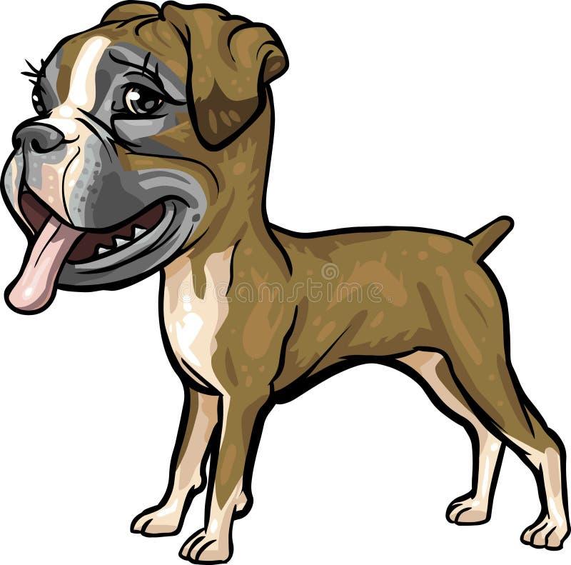 боксер разводит собаку бесплатная иллюстрация
