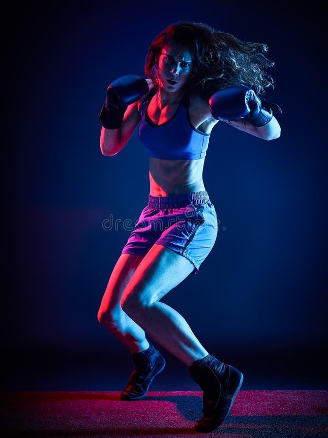 Бокс боксера женщины стоковые изображения rf