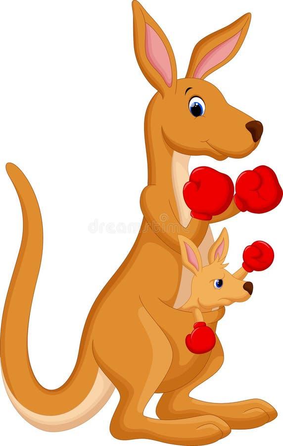 Бокс кенгуру иллюстрация штока