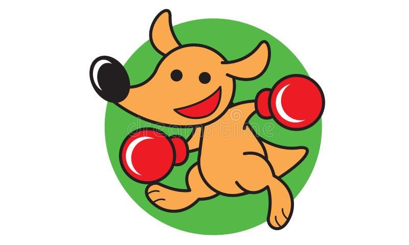 Бокс кенгуру иллюстрация вектора