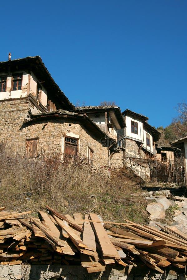 Болгария leshten село стоковое фото