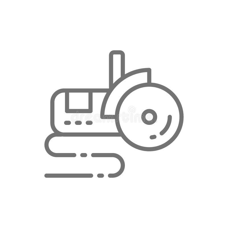 Болгарская пила, линия значок угловой машины бесплатная иллюстрация
