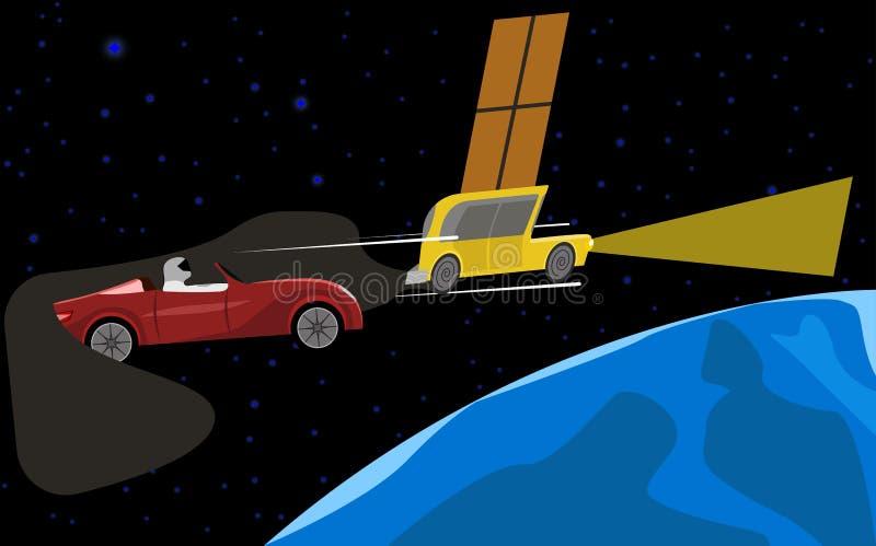 Более быстрая планета автомобиля уширенного кольцевого канала стоковое изображение rf