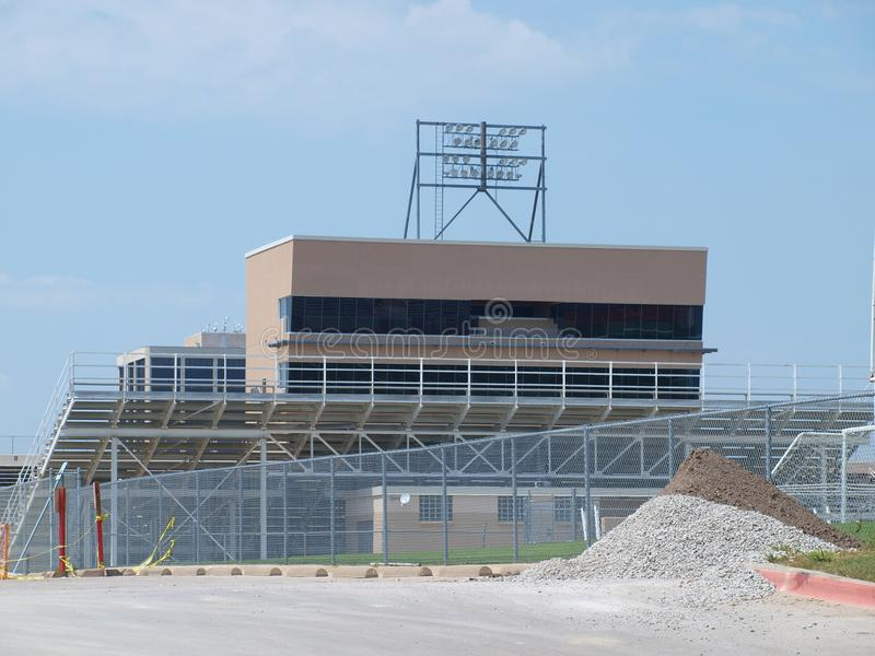 Более малый футбольный стадион средней школы Техаса стоковая фотография rf