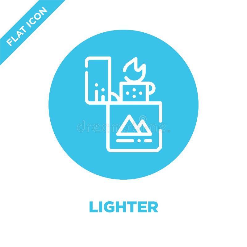 более светлый вектор значка от располагаясь лагерем собрания Тонкая линия более светлая иллюстрация вектора значка плана Линейный бесплатная иллюстрация