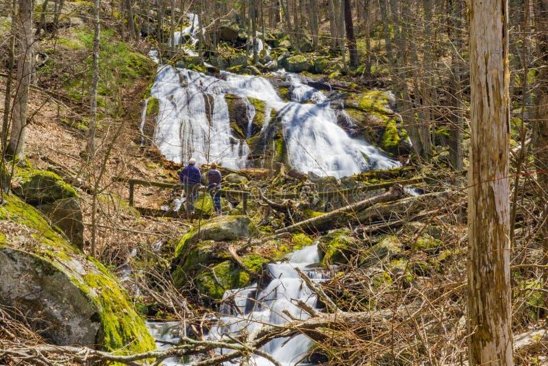Более старые пары на основании падений вигвама, Вирджинии, США стоковые изображения