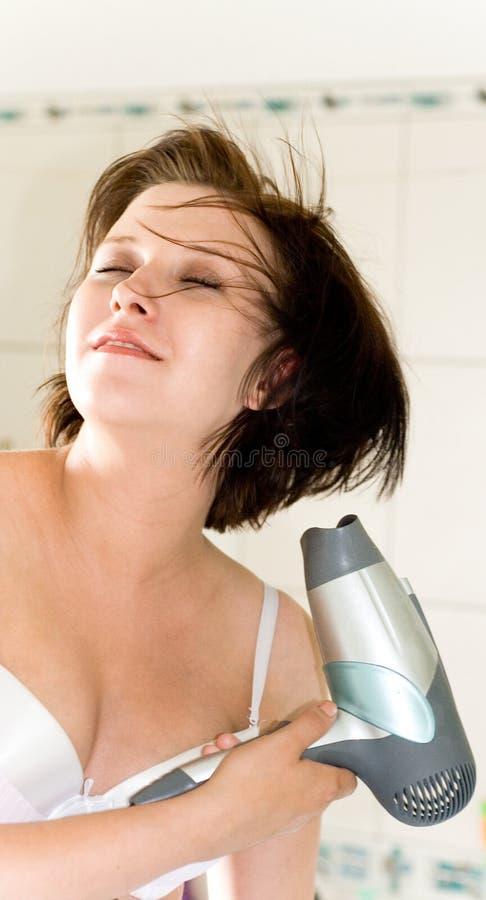 более сухая женщина стоковое изображение