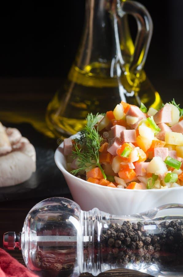 более olivier русский салат традиционный стоковая фотография