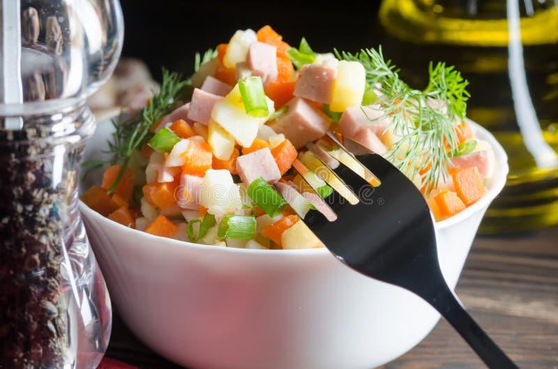 более olivier русский салат традиционный стоковое фото rf