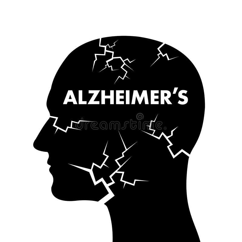 Болезнь Альцгеймера иллюстрация вектора