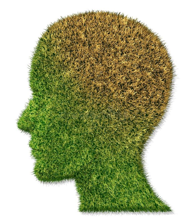 болезнь заболеванием мозга умственная иллюстрация вектора