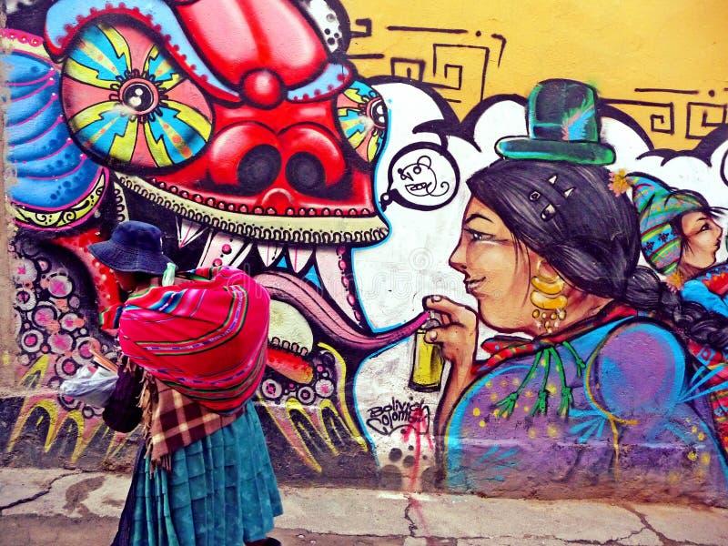 Боливиец Cholita стоковая фотография