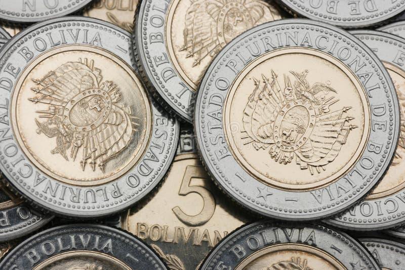 боливийская валюта новая стоковое изображение