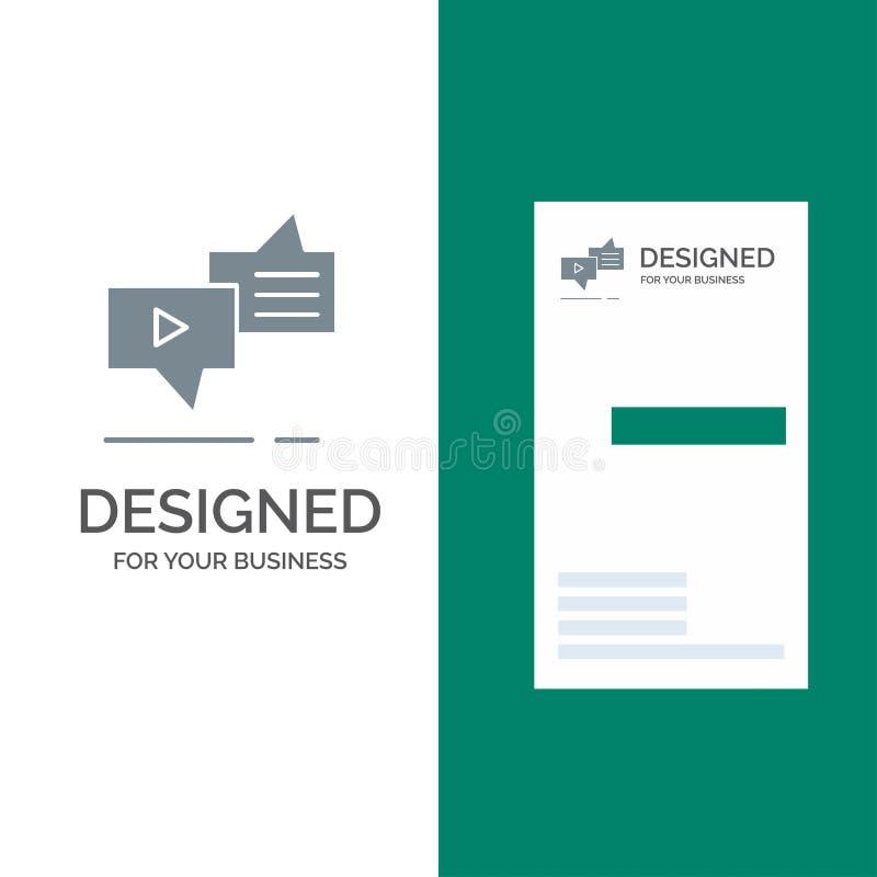 Болтовня, соединение, маркетинг, послание, дизайн логотипа речи серые и шаблон визитной карточки бесплатная иллюстрация