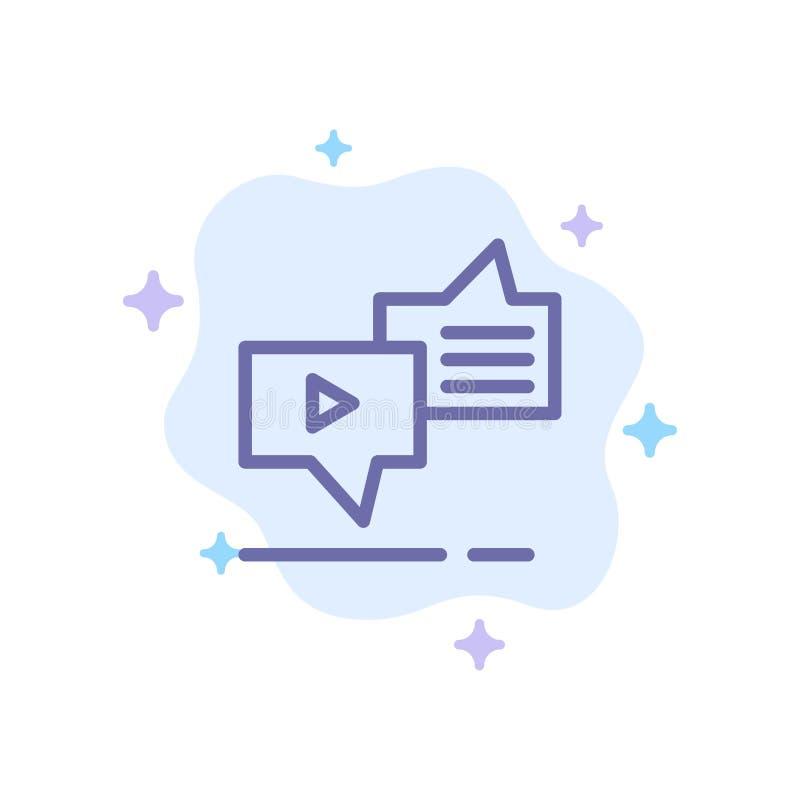 Болтовня, соединение, маркетинг, послание, значок речи голубой на абстрактной предпосылке облака бесплатная иллюстрация