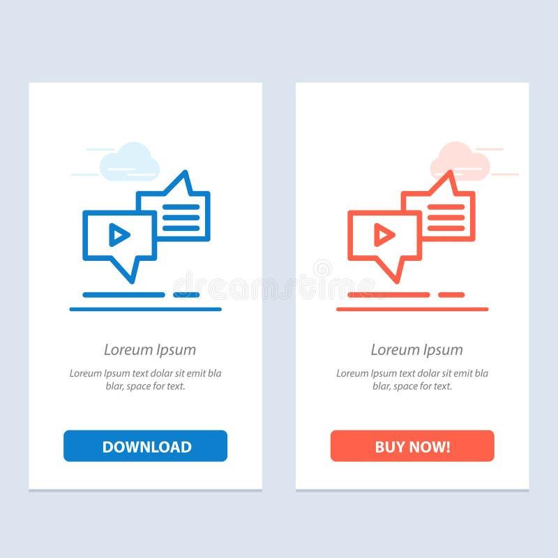 Болтовня, соединение, маркетинг, послание, синь речи и красная загрузка и купить теперь шаблон карты приспособления сети иллюстрация штока