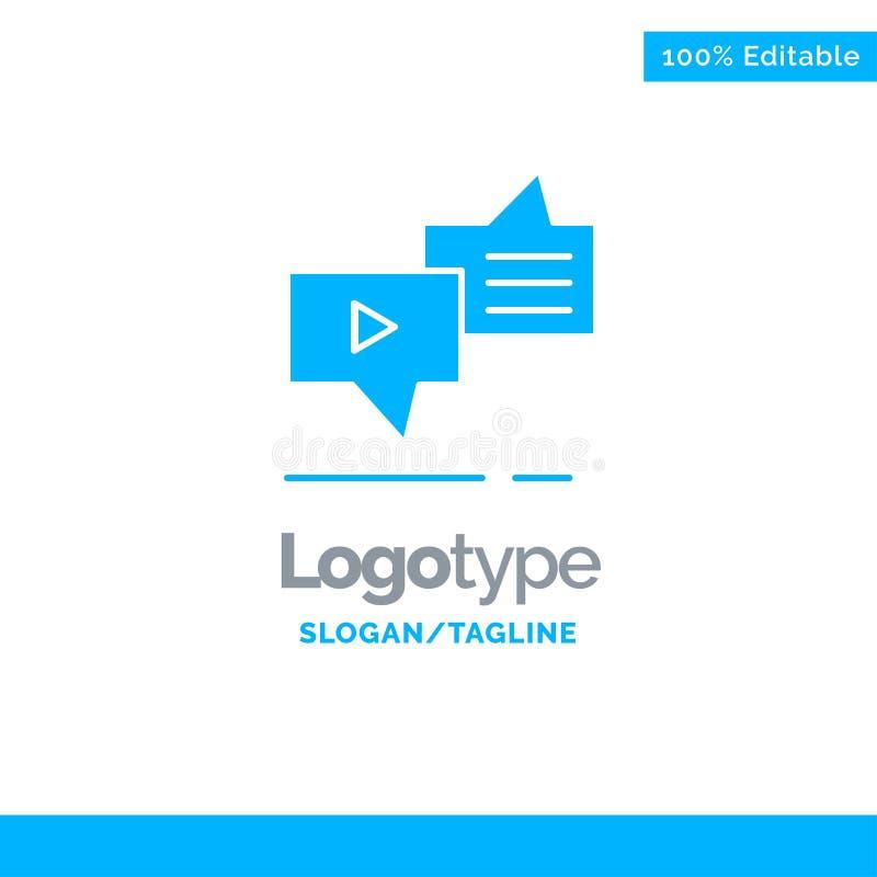 Болтовня, соединение, маркетинг, послание, шаблон логотипа речи голубой твердый r иллюстрация штока