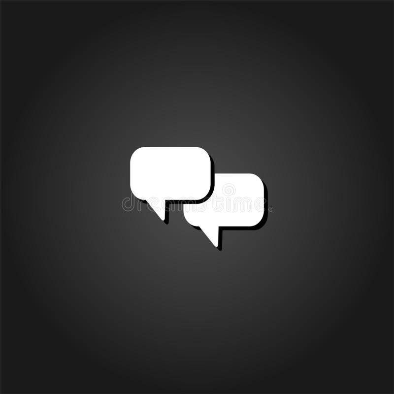 Болтовня со значком облаков диалога плоско иллюстрация штока