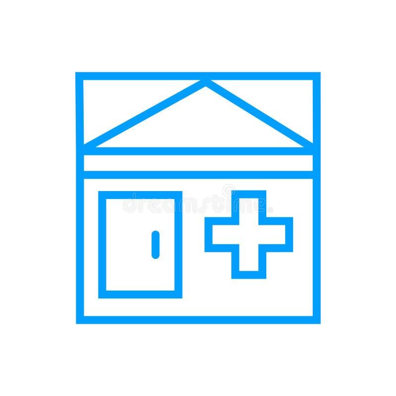 Больница, значок дома престарелых иллюстрация штока