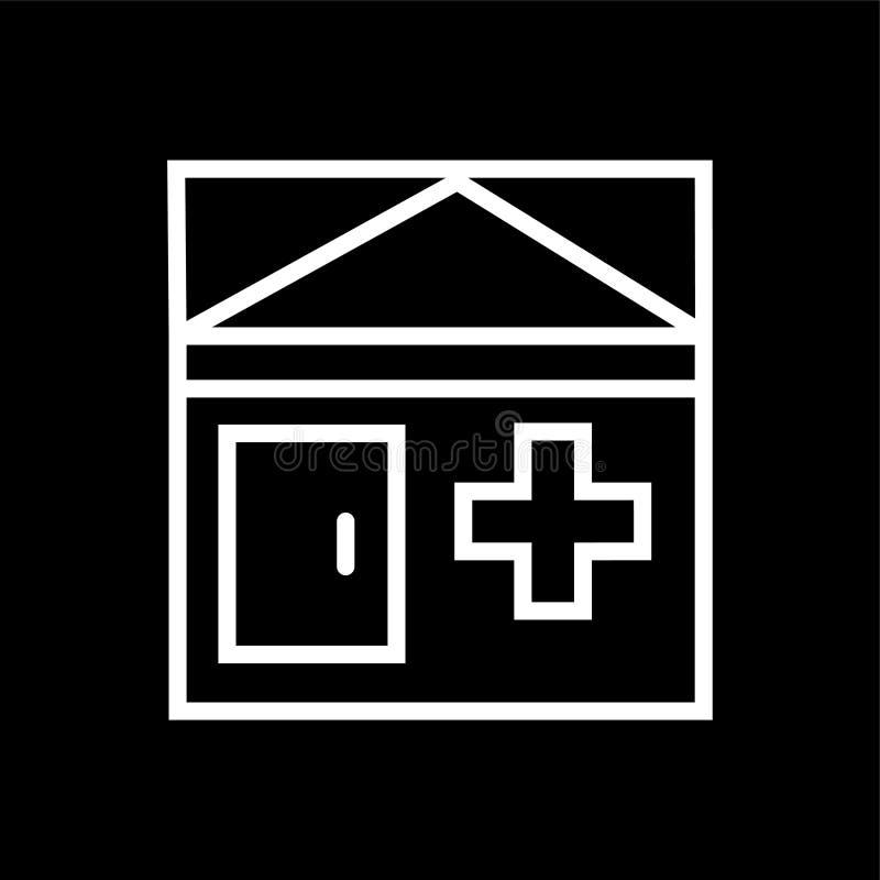 Больница, значок дома престарелых бесплатная иллюстрация