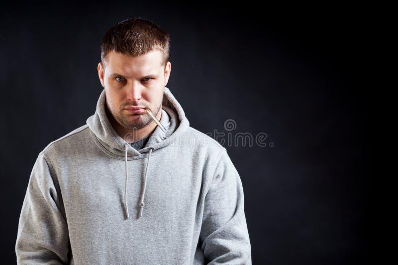 Больной молодого человека стоковое изображение