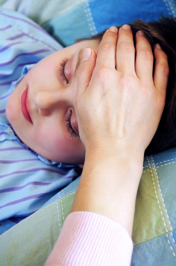 больной ребенка стоковое изображение