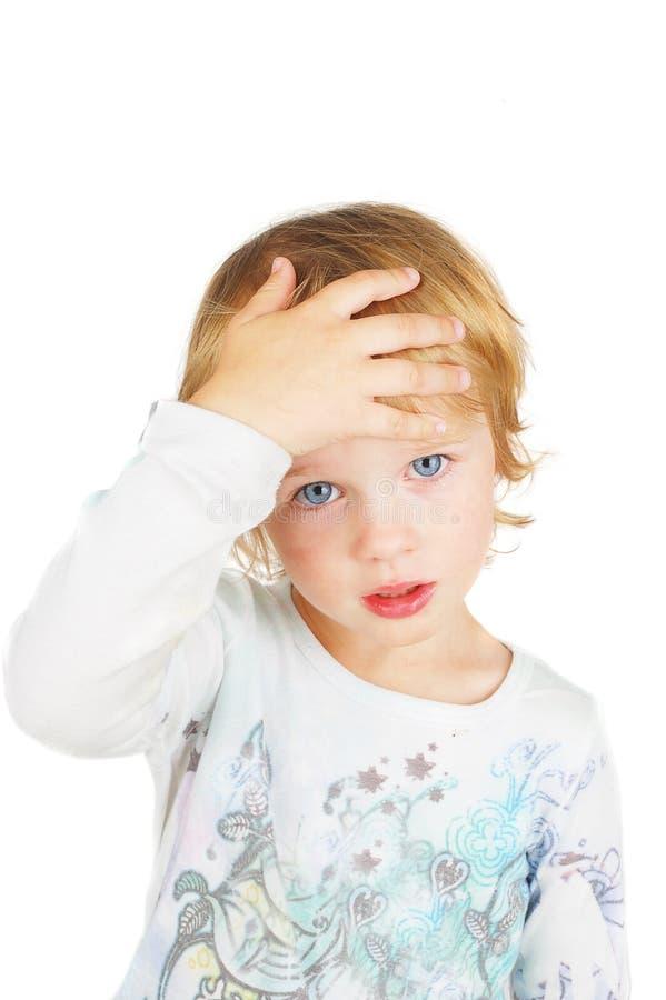 больной ребенка confused стоковое изображение