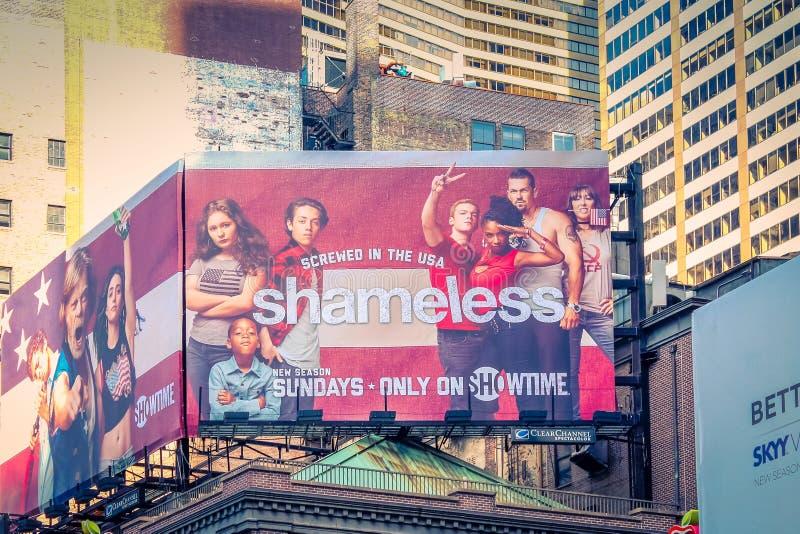Большая афиша рекламируя современную телевизионную программу беззастенчивую стоковые изображения rf