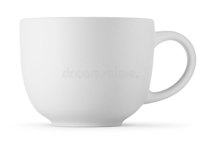 Большая белая чашка изолированная на белой предпосылке иллюстрация штока