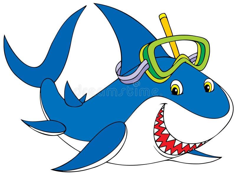 большая белизна акулы иллюстрация вектора