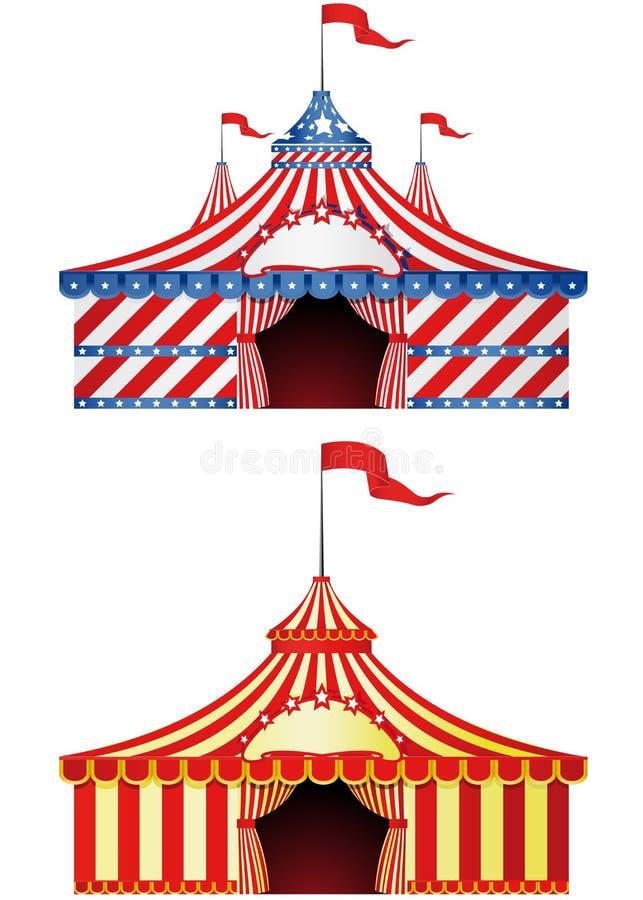 большая верхняя часть цирка иллюстрация вектора