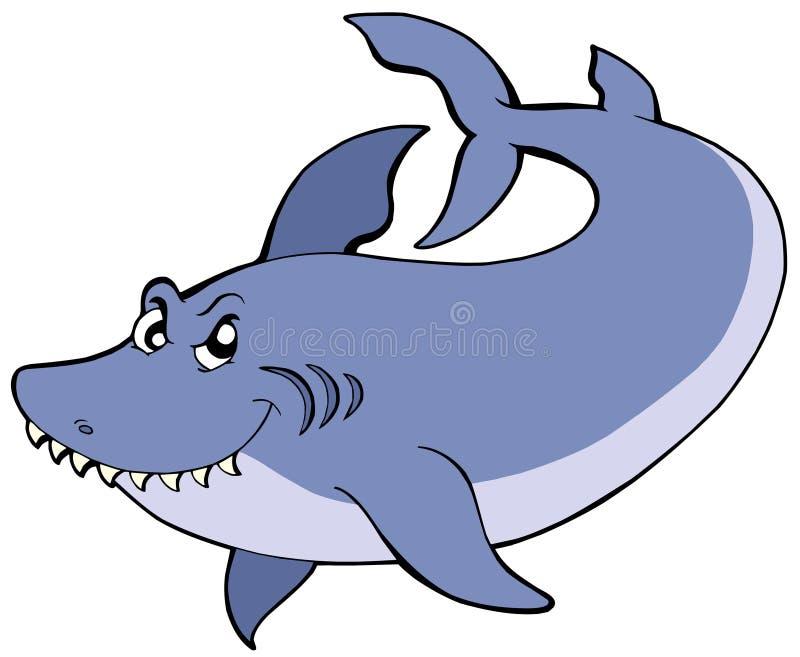 большая голубая акула иллюстрация штока