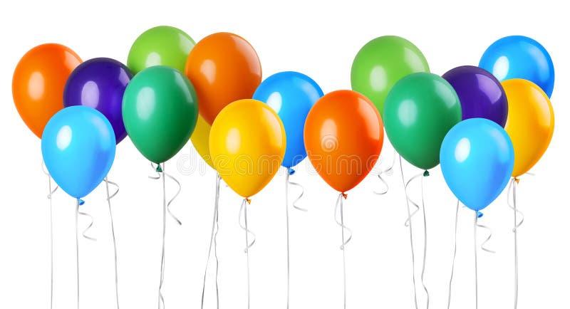 Большая группа в составе воздушные шары иллюстрация штока