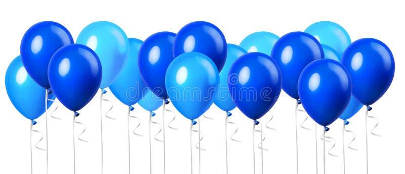 Большая группа в составе светлые небесно-голубые воздушные шары бесплатная иллюстрация