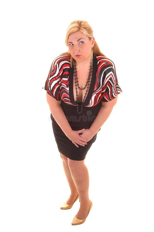 Download большая девушка платья стоковое фото. изображение насчитывающей изолировано - 18389114