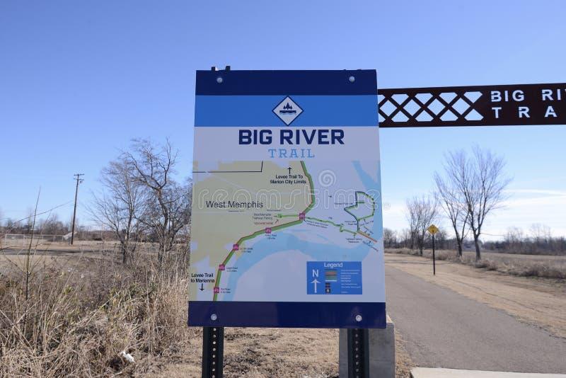 Большая диаграмма следа реки, западный Мемфис, Арканзас стоковая фотография rf