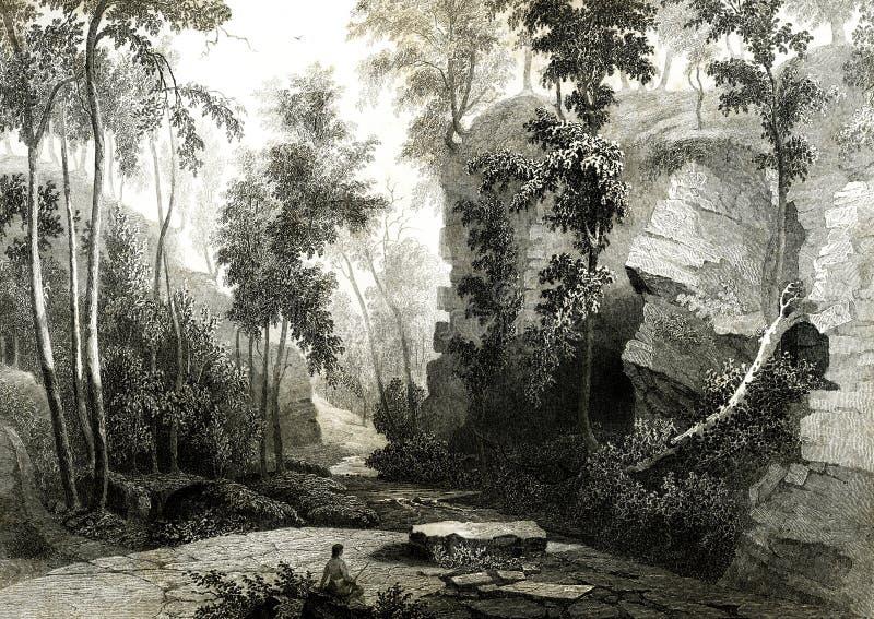 Большая заводь змейки, зима Джордж иллюстрации Индианы бесплатная иллюстрация