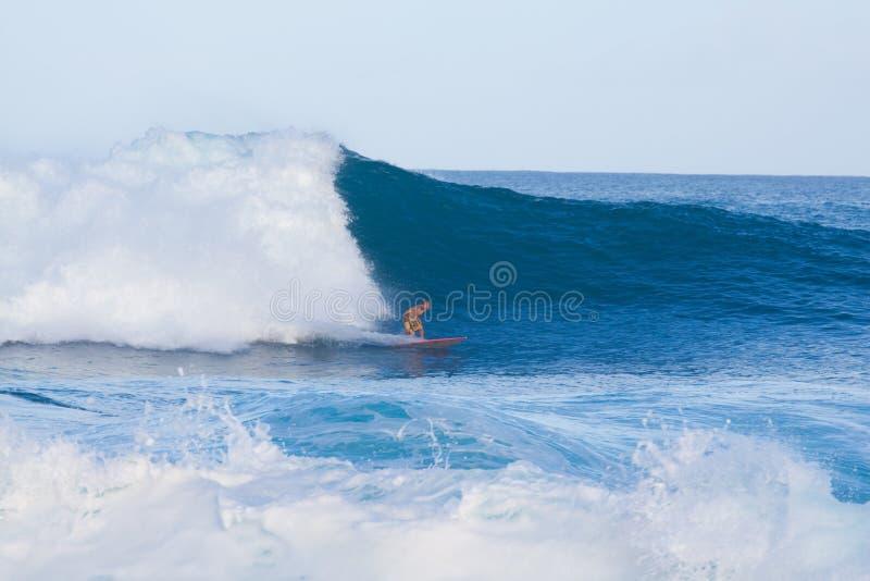 большая занимаясь серфингом волна стоковое фото