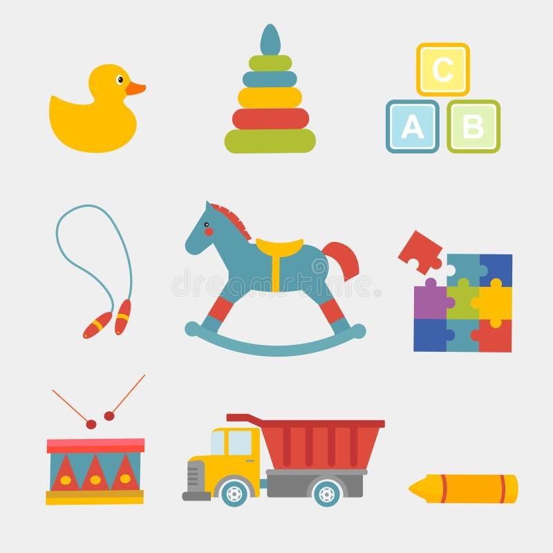 Большая иллюстрация вектора установила игрушек детей стоковые фотографии rf