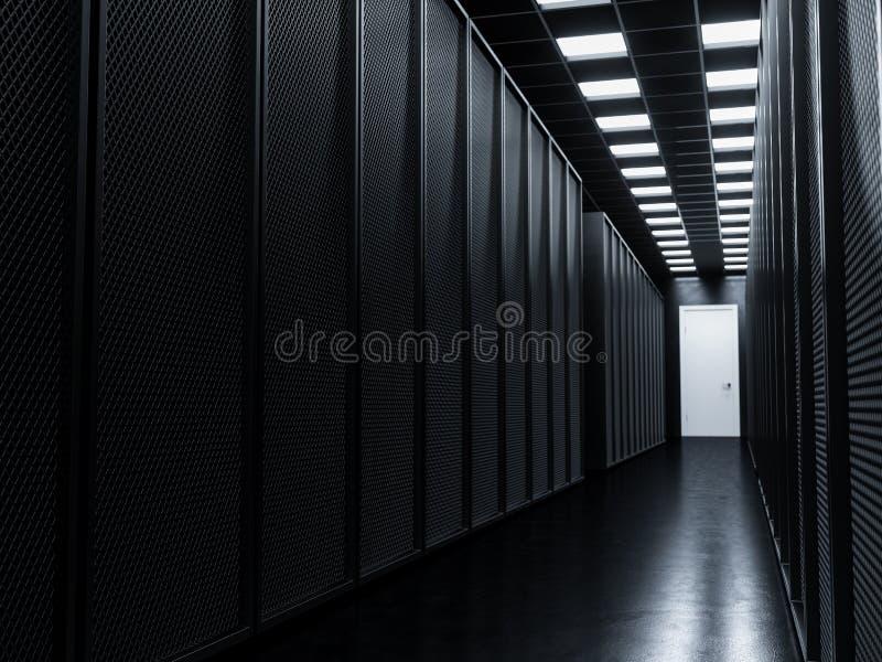 Download Большая комната сервера данных Иллюстрация штока - иллюстрации: 102859877