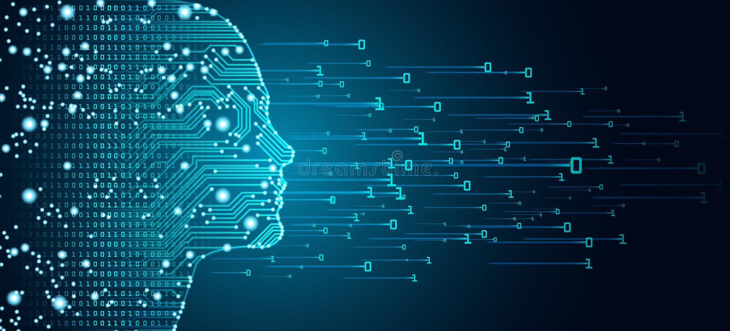 Большая концепция данных и искусственного интеллекта бесплатная иллюстрация